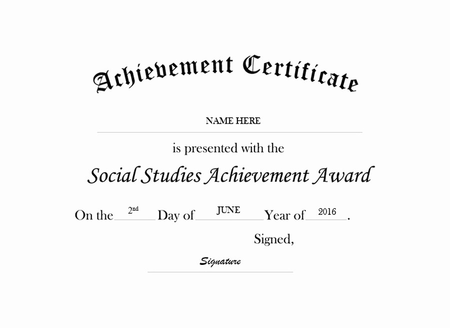 Certificate Of Achievement Free Template Lovely Geographics Certificates