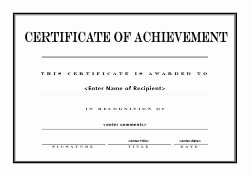 Certificate Of Achievement Free Template Luxury 26 Achievement Certificates for 2018