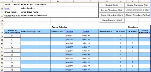 Certificate Of Analysis Template Excel New Course attendance Excel Template