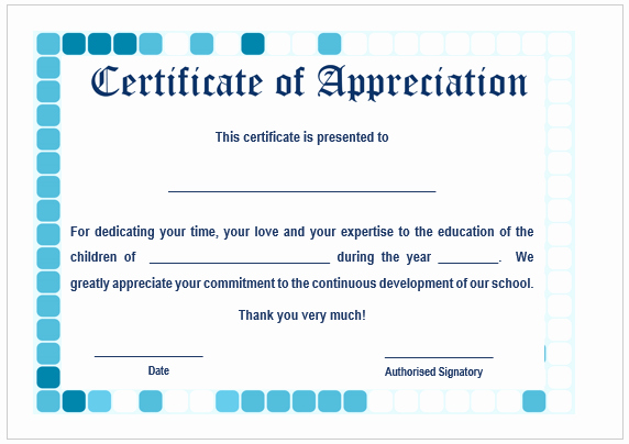 Certificate Of Appreciation for Students Inspirational 11 Printable Certificates Of Appreciation for Teachers