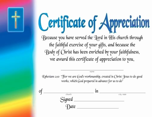 Certificate Of Appreciation for Students Inspirational Certificate Of Appreciation Religious