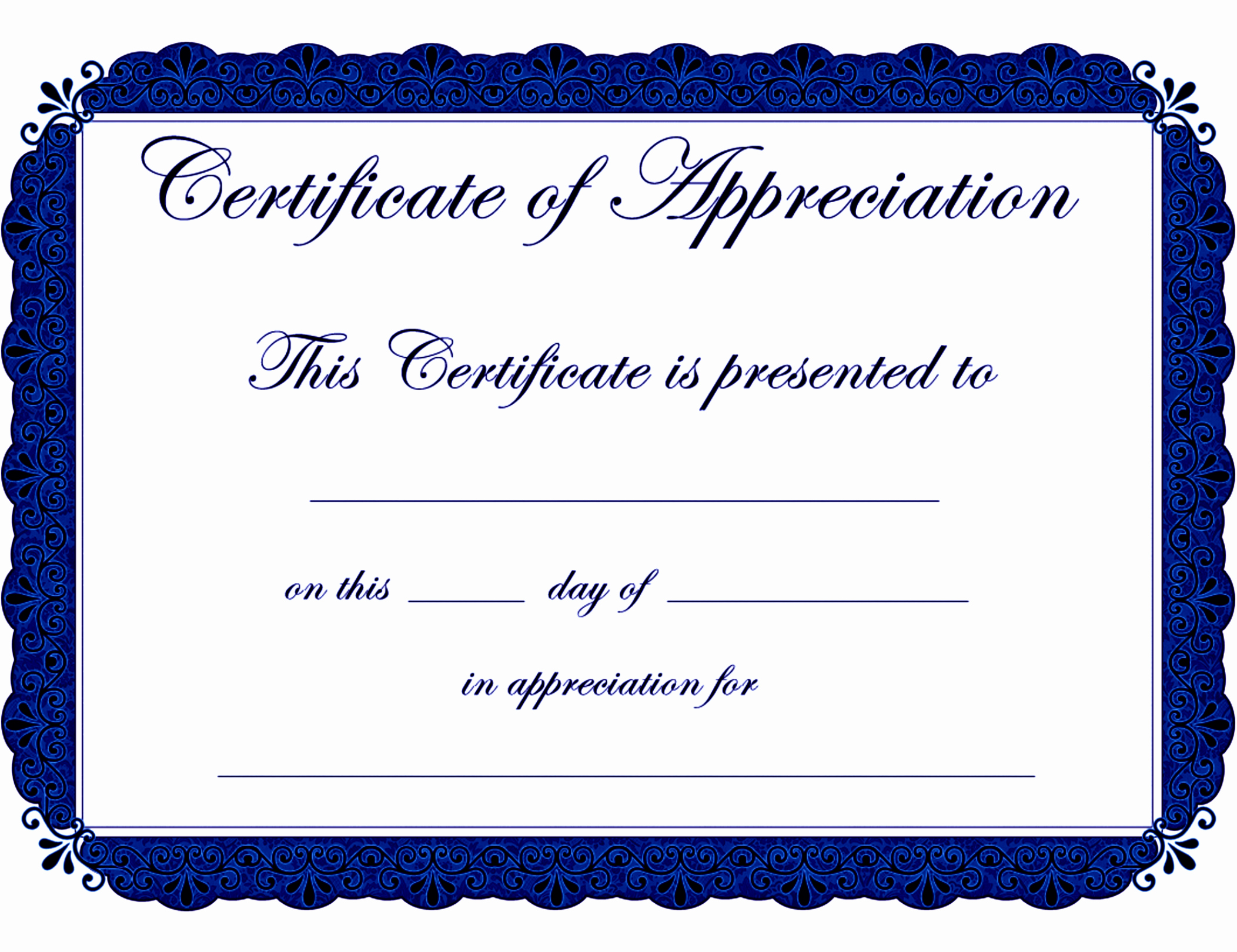 Certificate Of Appreciation for Students Inspirational Certificate Of Appreciation Template Word Free