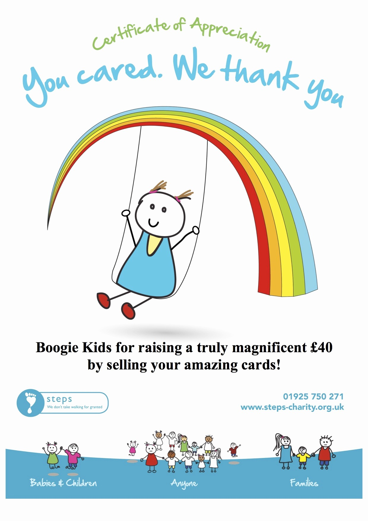 Certificate Of Appreciation for Students Lovely Charities We Have Supported Boogie Kids