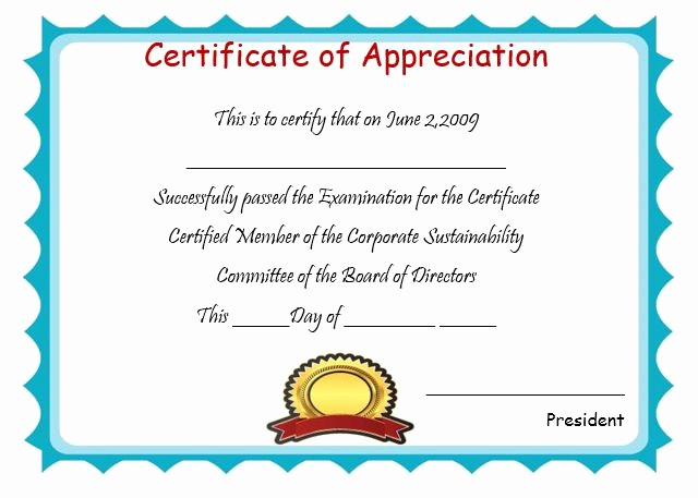 Certificate Of Appreciation for Students Luxury 50 Professional Free Certificate Of Appreciation