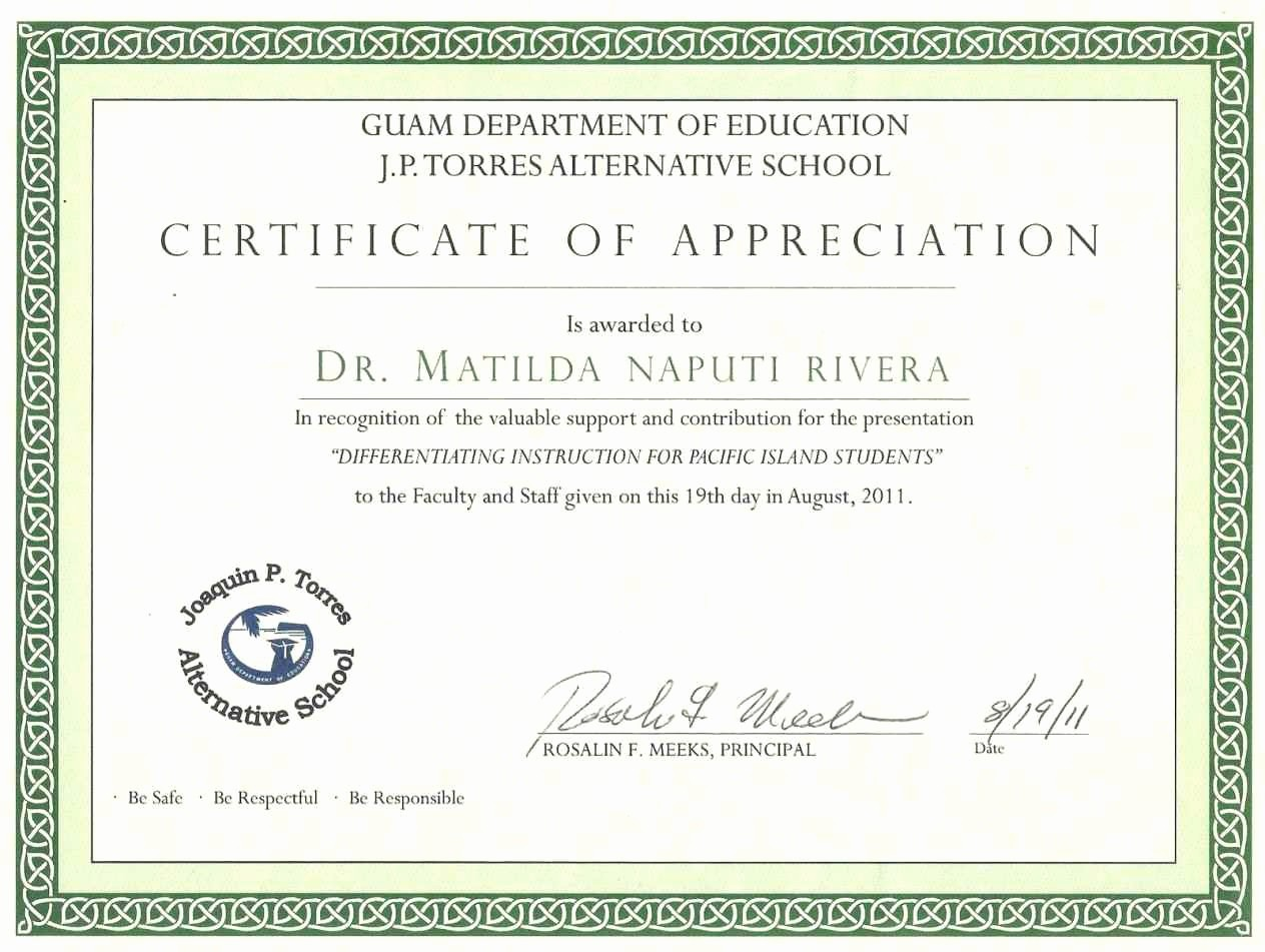 Certificate Of Appreciation for Students New Certificate Appreciation for Students Template