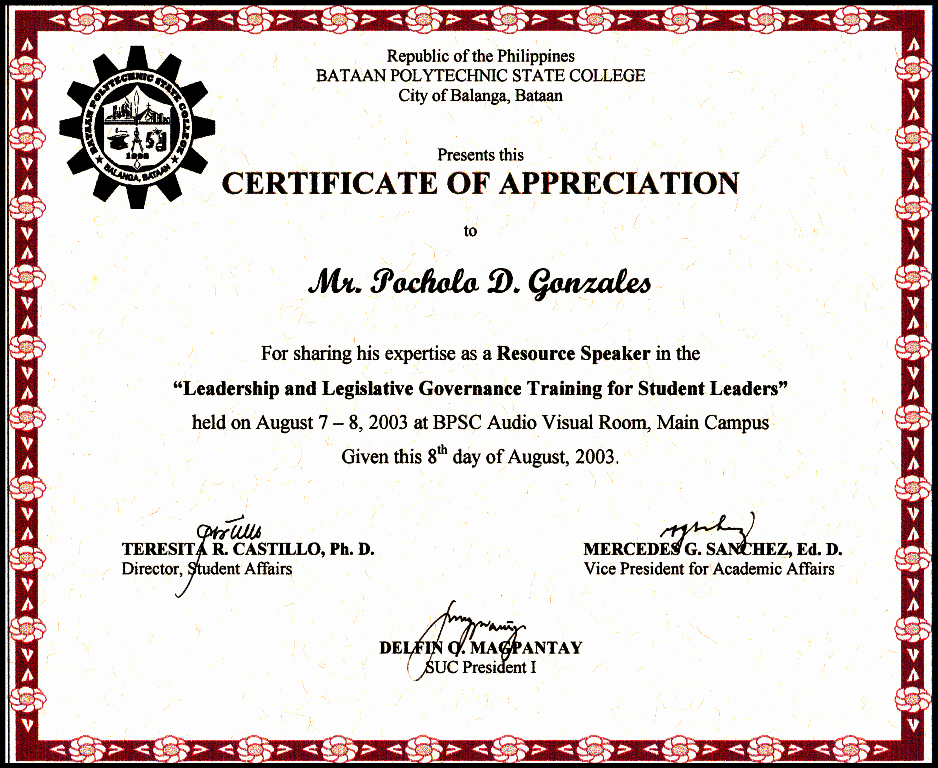 Certificate Of Appreciation for Students Unique Certificates