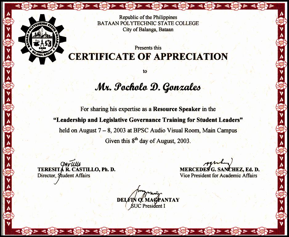 Certificate Of Appreciation for Students Unique Certificates