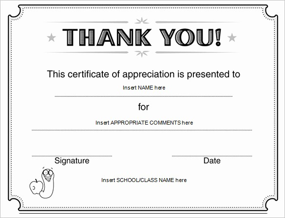 Certificate Of Appreciation for Students Unique Word Certificate Template 49 Free Download Samples