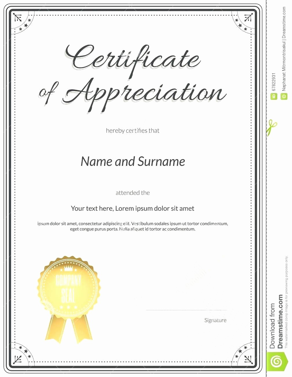 Certificate Of Appreciation Word Template Beautiful Template Certificate Recognition Template Word