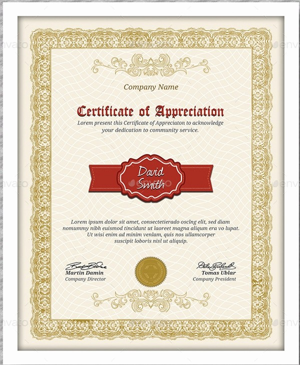 Certificate Of Appreciation Word Template Inspirational Certificate Of Appreciation Template 25 Free Word Pdf
