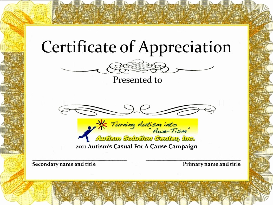 Certificate Of Appreciation Word Template Lovely Certificate Appreciation Templates