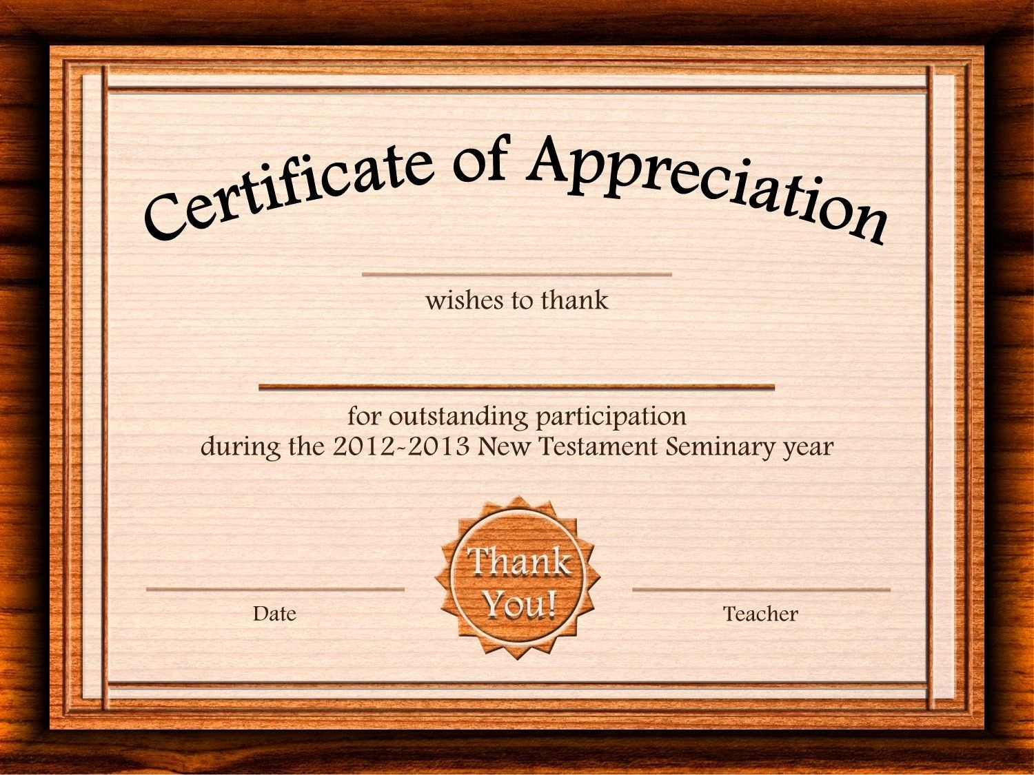 Certificate Of Appreciation Word Template New Free Certificate Appreciation Templates for Word