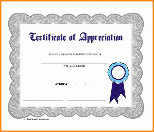 Certificate Of Appreciation Word Template Unique 15 Certificate Templates Word Free