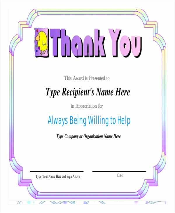 Certificate Of Appreciation Word Template Unique Certificate Of Appreciation Template 25 Free Word Pdf