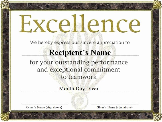 Certificate Of Appreciation Word Template Unique Free Funny Award Certificates Templates