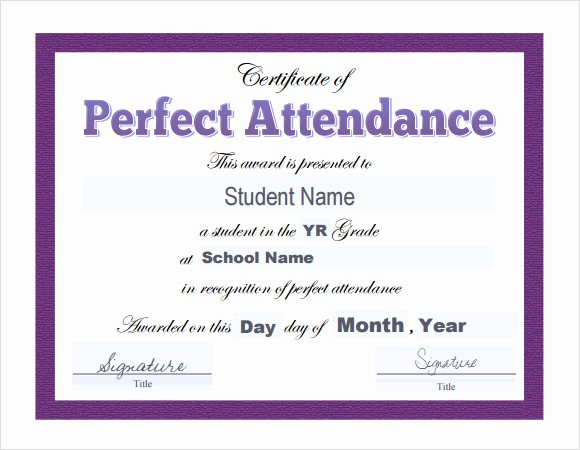 Certificate Of attendance Template Word Awesome 16 Sample attendance Certificate Templates to Download