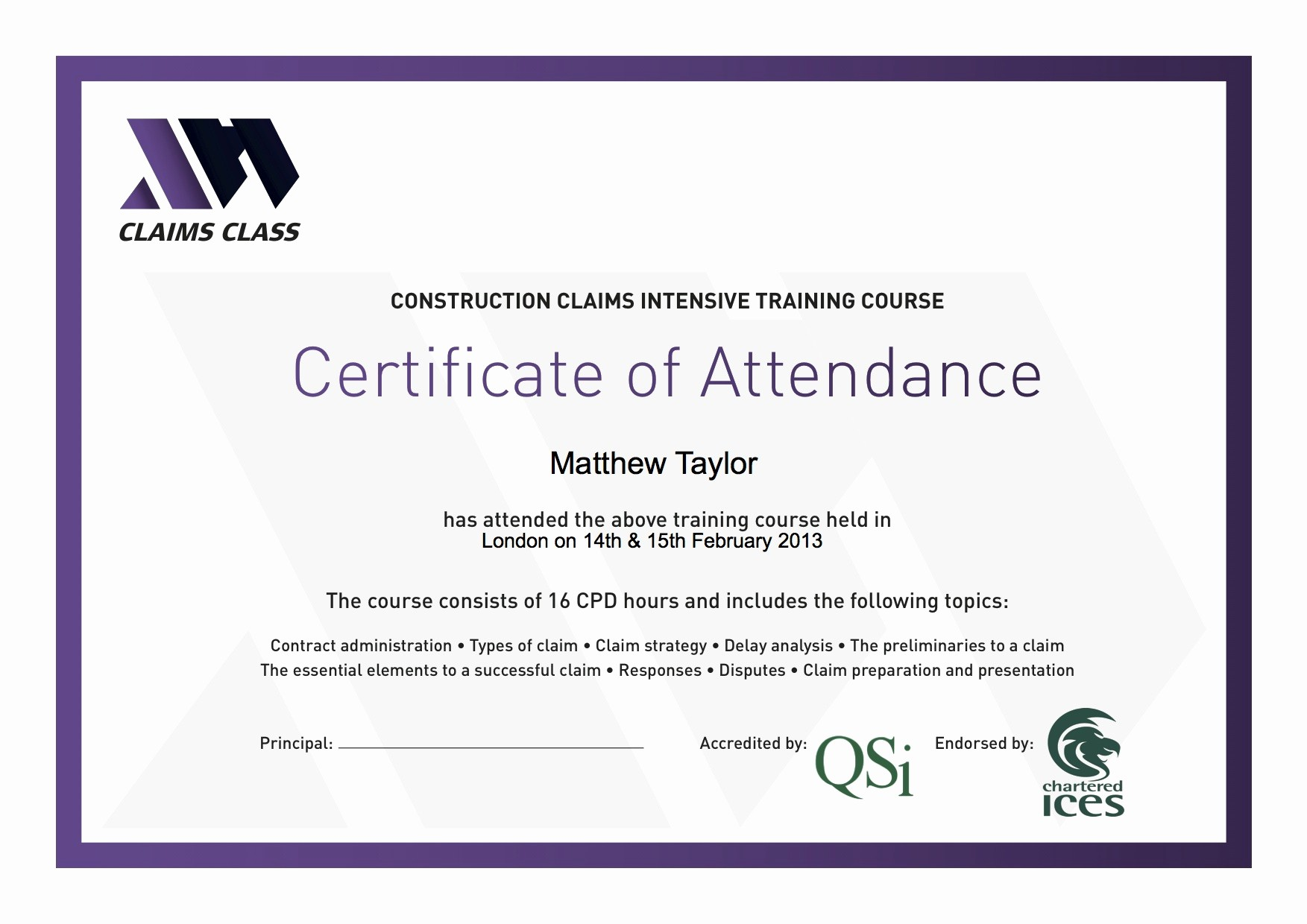 Certificate Of attendance Template Word Awesome Certificate Of attendance Templates