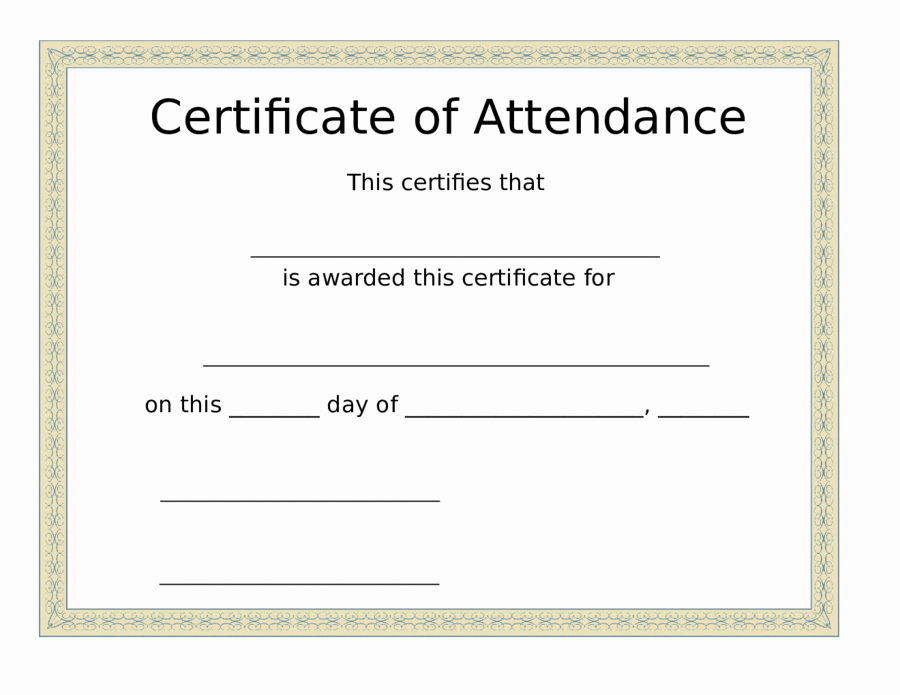 Certificate Of attendance Template Word Beautiful 2019 Certificate Of attendance Fillable Printable Pdf