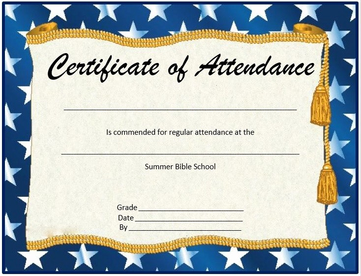 Certificate Of attendance Template Word Beautiful 8 Free Sample attendance Certificate Templates Printable
