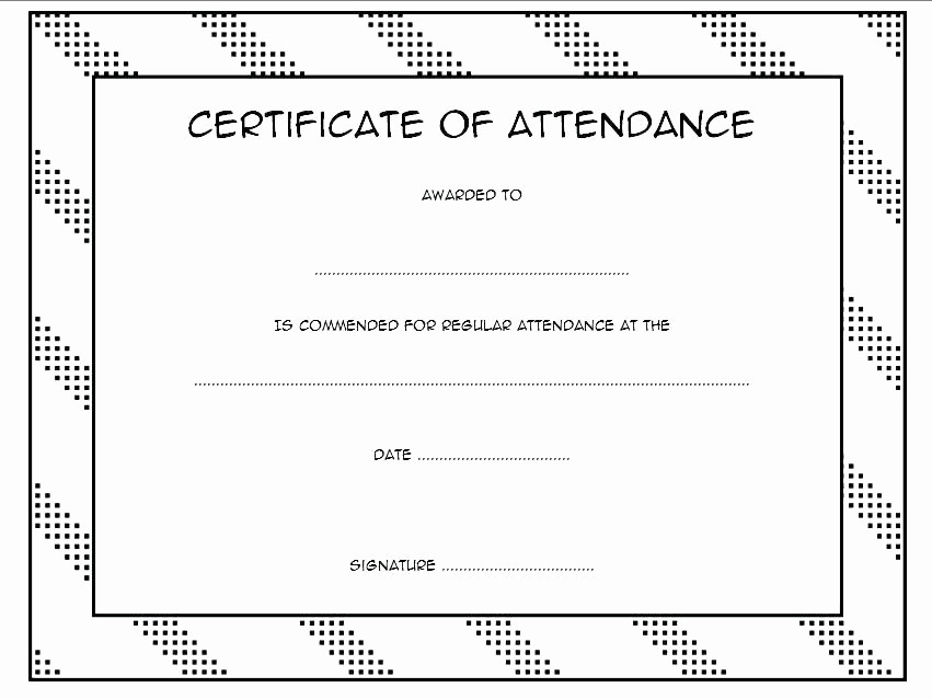 Certificate Of attendance Template Word Beautiful attendance Template Word – Aoteamedia