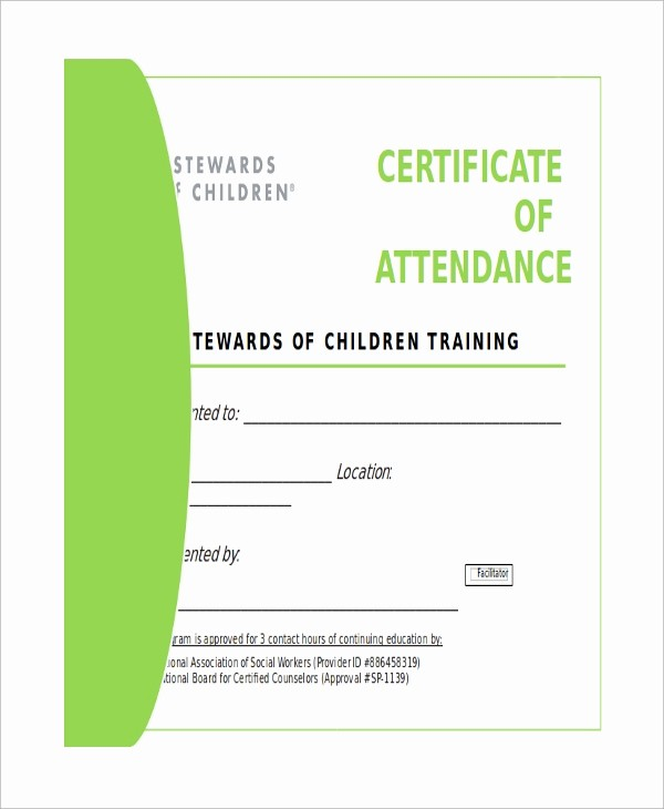 Certificate Of attendance Template Word Elegant 6 Certificate Samples In Word