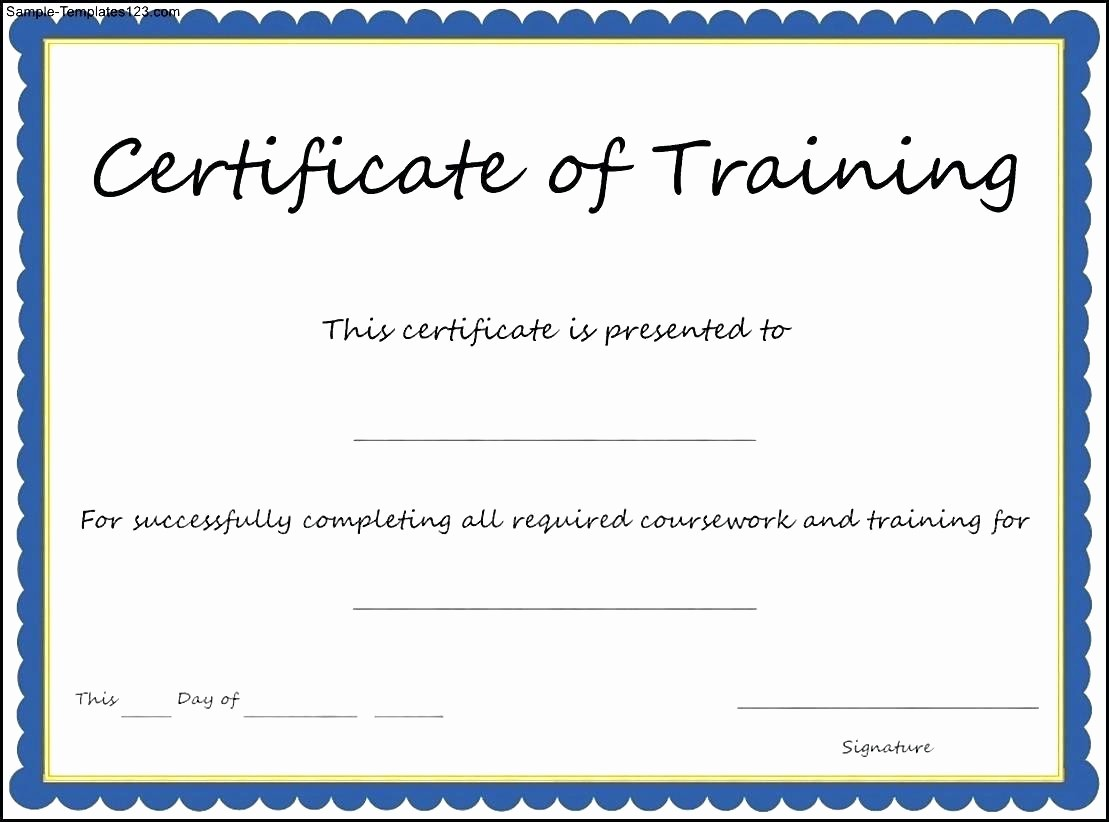 Certificate Of attendance Template Word Elegant Template Course attendance Certificate Template