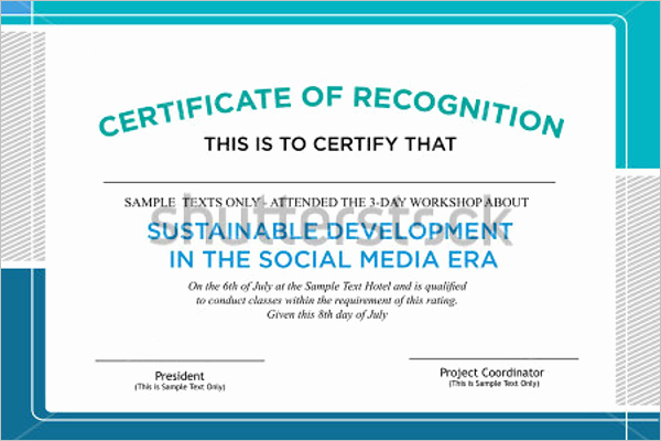 Certificate Of attendance Template Word Lovely 18 attendance Certificate Templates Free Word Psd formats