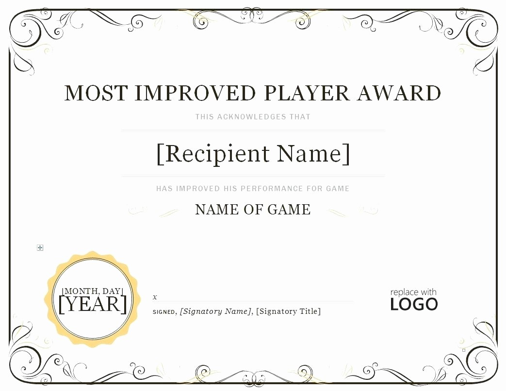 Certificate Of attendance Template Word Lovely Template Template for Certificate attendance