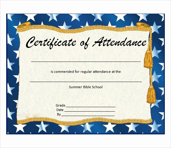Certificate Of attendance Template Word Luxury 16 Sample attendance Certificate Templates to Download