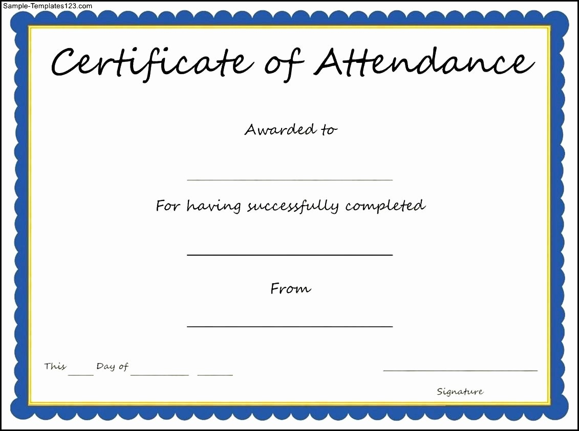 Certificate Of attendance Template Word Unique 19 Elegant Line Baby Announcement Templates Free