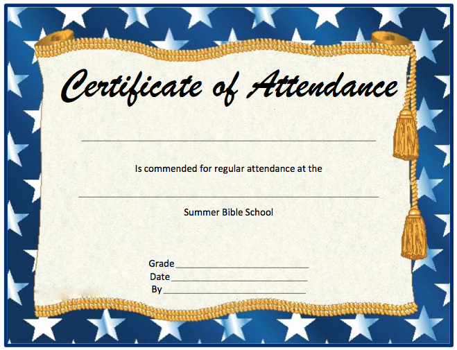Certificate Of attendance Template Word Unique Perfect attendance Certificate Template Microsoft Word