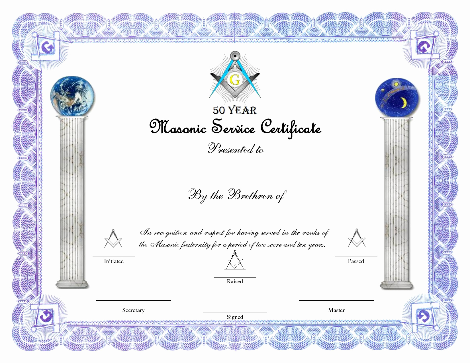 Certificate Of Award Template Free Fresh 8 Best Of Free Masonic Certificate Appreciation