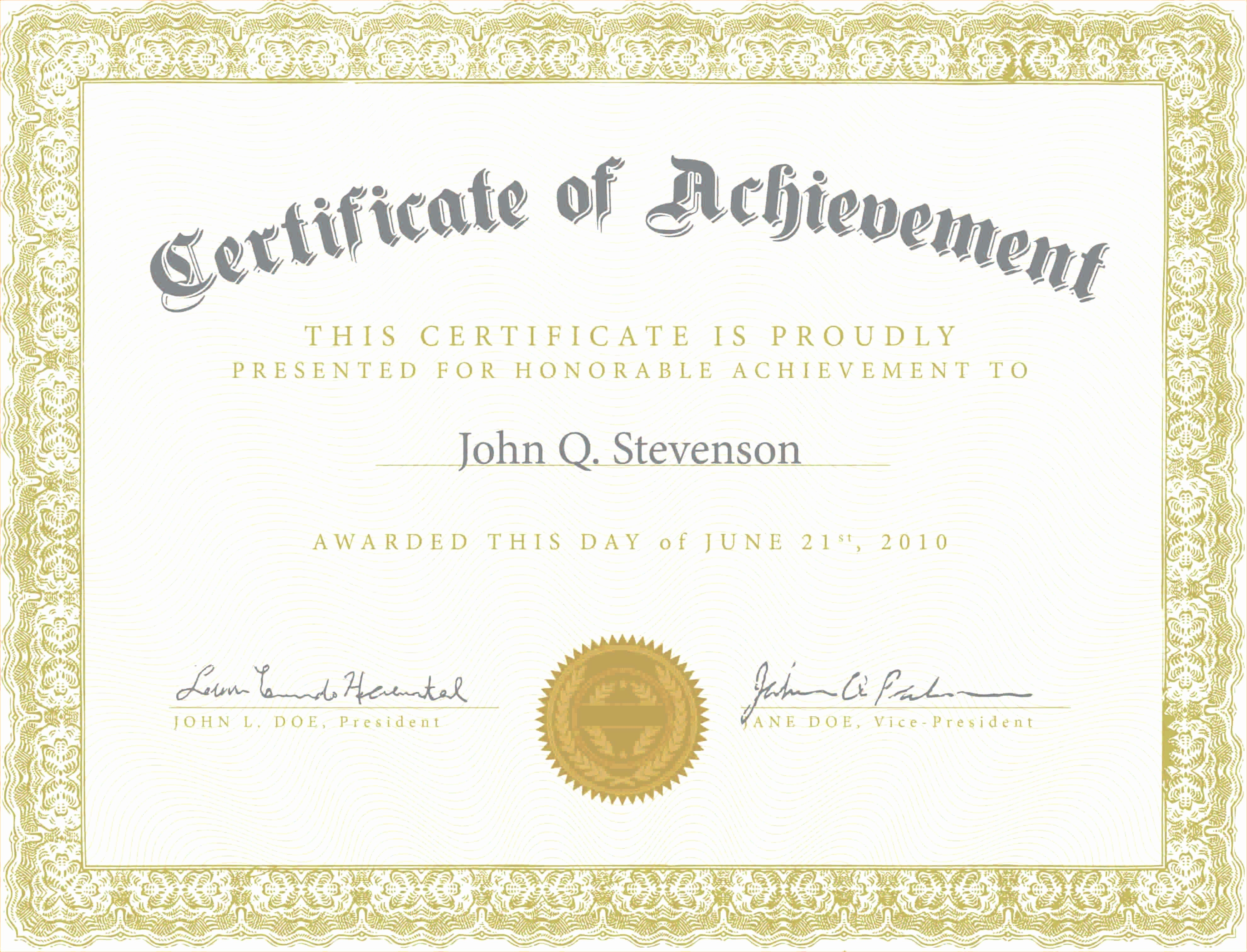 Certificate Of Award Template Free Lovely Army Certificate Achievement Template Example Mughals