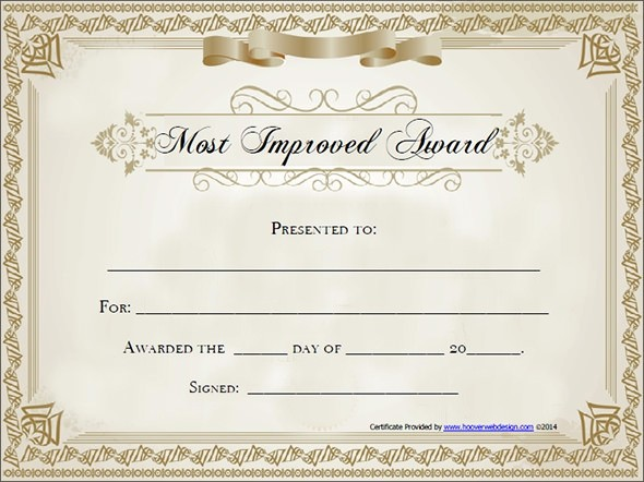 Certificate Of Award Template Free Lovely Award Certificate Templates Free Invitation Template