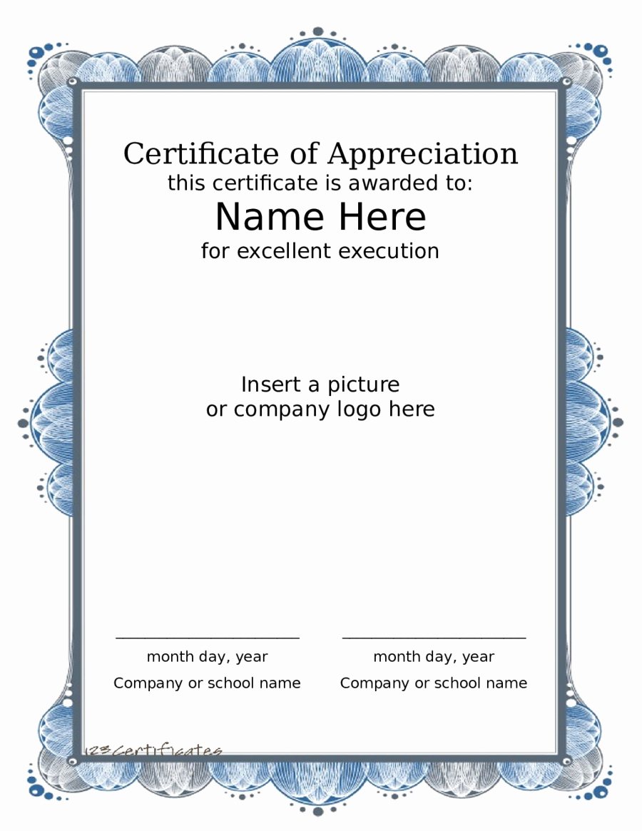 Certificate Of Award Template Free Luxury 2019 Award Certificate Fillable Printable Pdf & forms