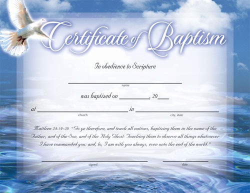 Certificate Of Baptism Word Template Beautiful Certificate Of Baptism Certificates Church Supplies
