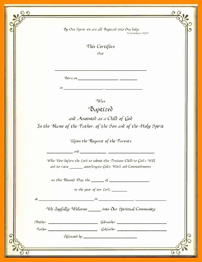 Certificate Of Baptism Word Template Beautiful Template Baptism Certificate Template Word