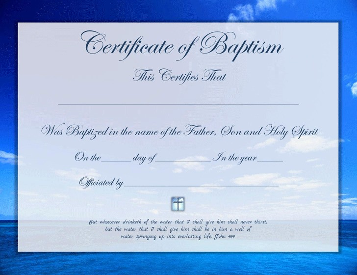 Certificate Of Baptism Word Template Best Of 3 Baptism Certificate Free Download