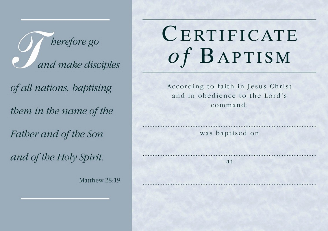 Certificate Of Baptism Word Template Inspirational Free Baptism Certificate Template Word Templates