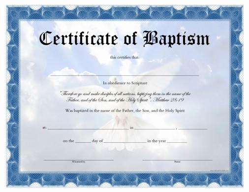 Certificate Of Baptism Word Template Lovely Baptism Certificate Template Pdf Templates Resume