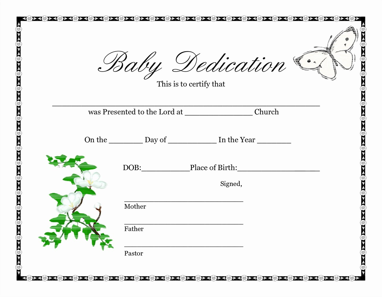 Certificate Of Baptism Word Template Lovely Free Baptism Certificate Template Word Templates