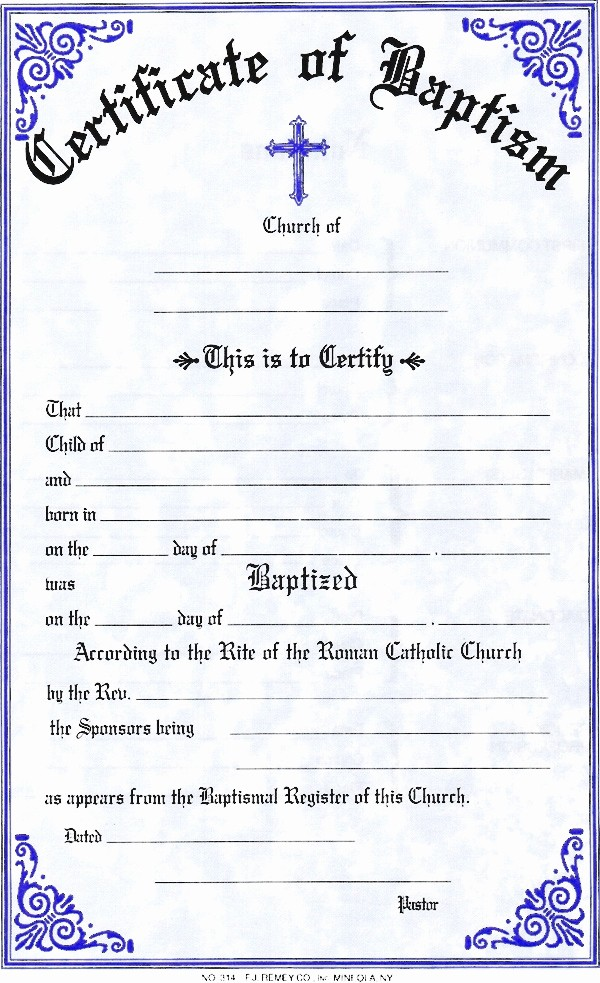 Certificate Of Baptism Word Template Luxury Baptism Certificate Template Invitation Template