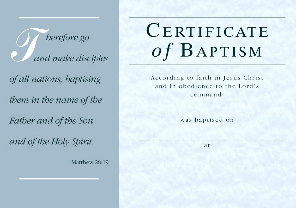 Certificate Of Baptism Word Template Unique Baptism Certificate Template Word Free Baptism Certificate