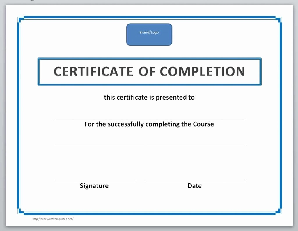 Certificate Of Completion Of Training Awesome 13 Free Certificate Templates for Word