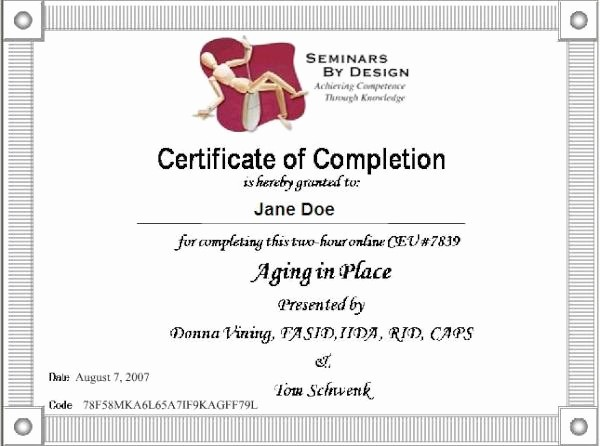 Certificate Of Completion Of Training Awesome Course Certificate Samples Web Fices