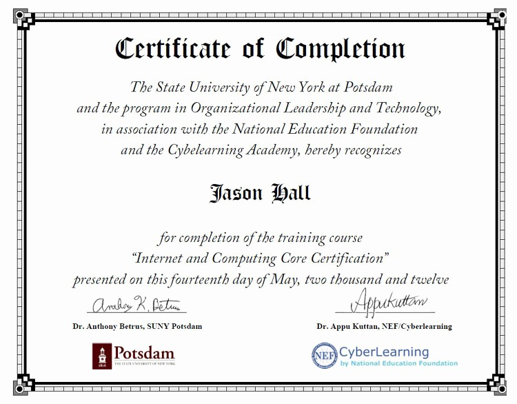 Certificate Of Completion Of Training Beautiful Leadership Training Certificates