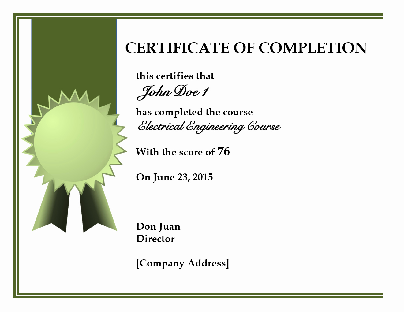 Certificate Of Completion Of Training Best Of Training Pletion Certificate Template