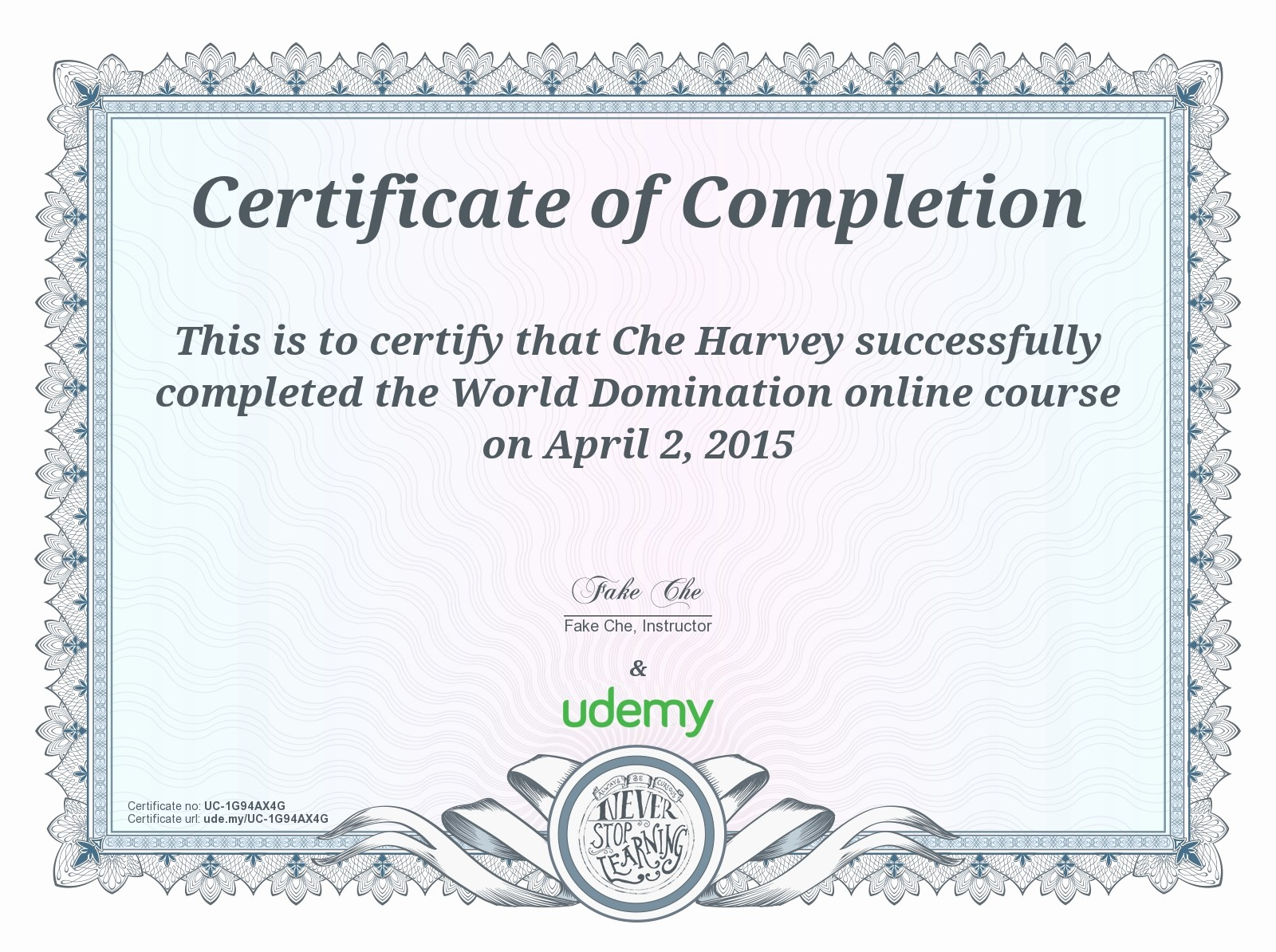 Certificate Of Completion Of Training Inspirational Certificate Of Pletion – Udemy