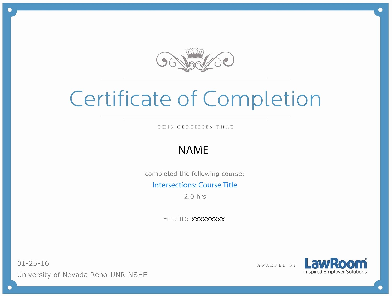 Certificate Of Completion Of Training Inspirational Lawroom Line Training
