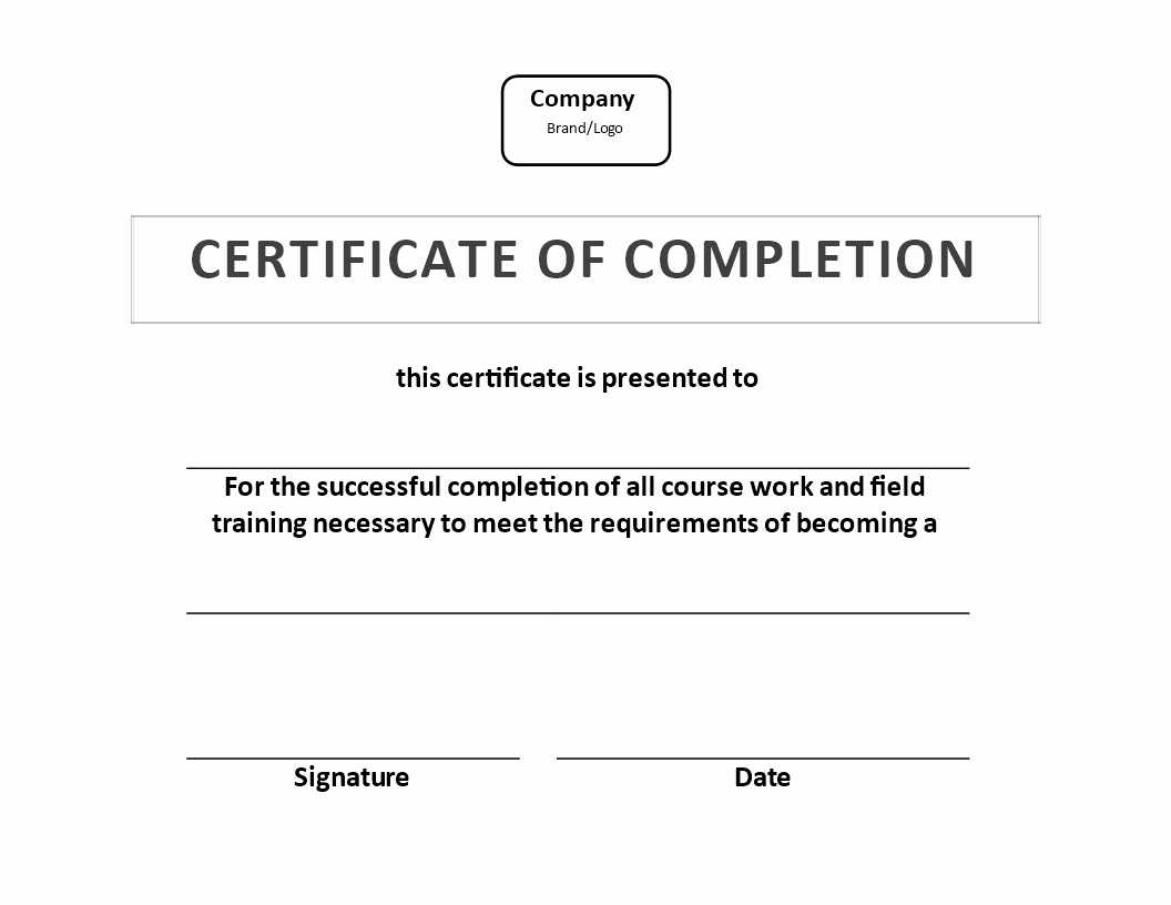 Certificate Of Completion Of Training Lovely Free Certificate Of Training Pletion Example